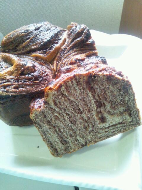 玄米酵母からのマーブルパン